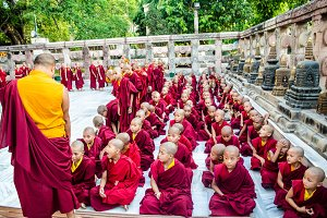 Tibetan Monks in Bihar,India