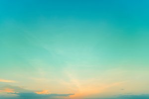 Cyan blue twilight sky