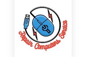 repair computers and laptops emblem