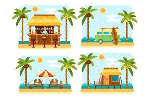 Flat Beach Scene