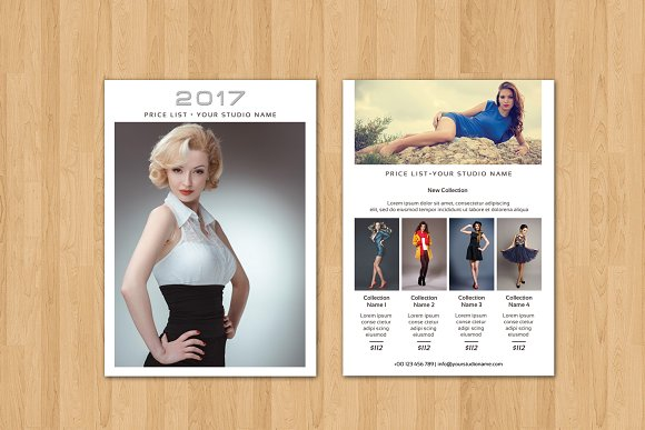 fashion photography price list v342 flyer templates creative market