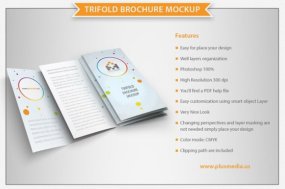 Download Trifold Brochure Mockup