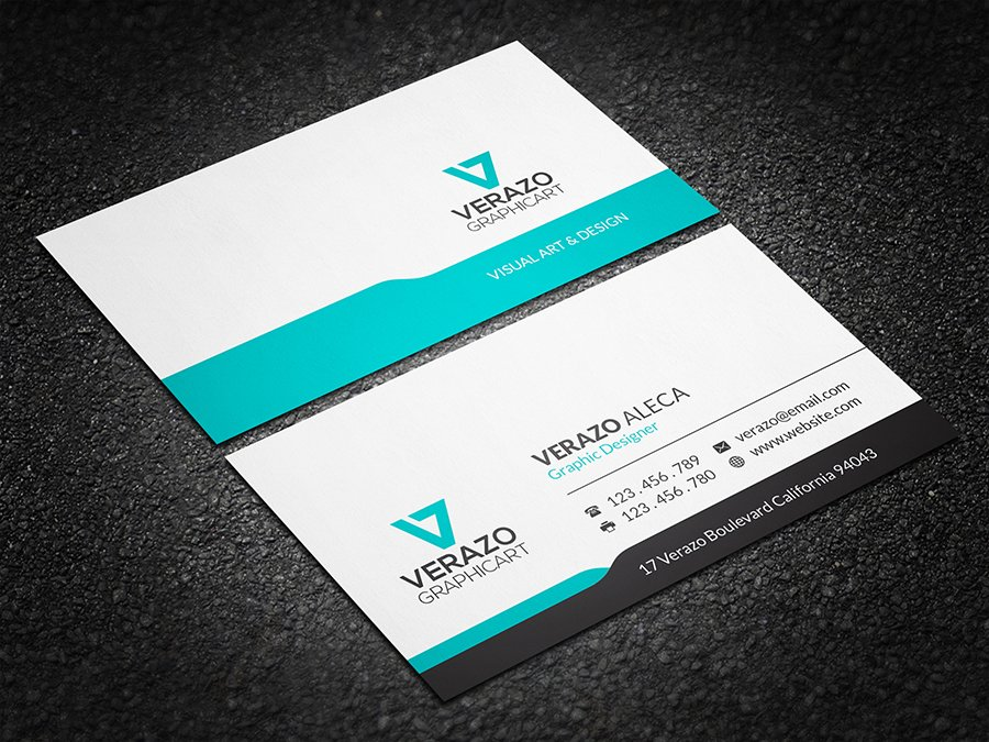 Modern minimal business card business card templates creative market colourmoves