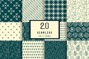 Set of 20 seamless patterns