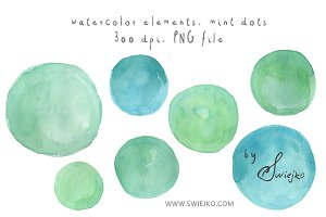 Watercolor Dots, Bubbles