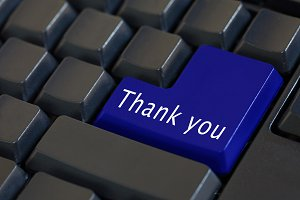 'Thank you' on enter keyboard