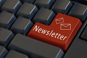 'Newsletter' and its icon on enter keyboard