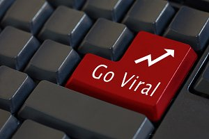 'Go Viral' on enter keyboard