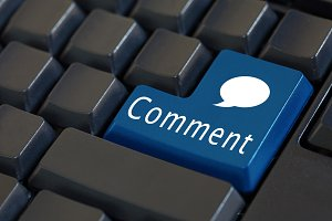 'Comment' button on enter keyboard