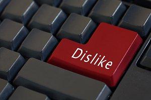 """""""Dislike"""" on enter keyboard"""