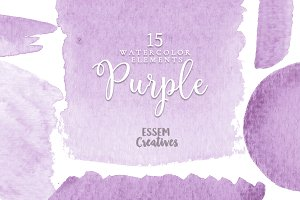 Purple Watercolor Clipart