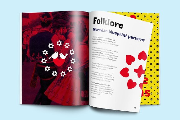 Folklore Patterns & Elements + Font in Patterns - product preview 6