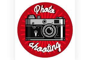 Color vintage photographer emblem