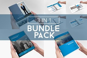 Business Brochure Bundle Pack 3 in 1