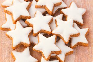 Cookies in star form