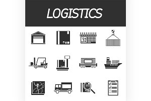 Logistic icon set