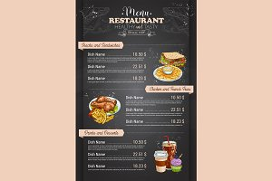Restaurant vertical color menu