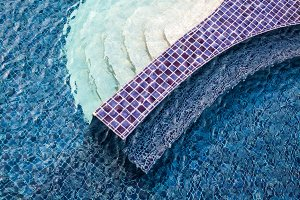 Beautiful top view of the swimming pool, pattern