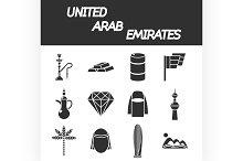 United arab emirates icon set
