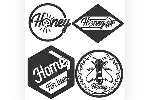 Vintage honey emblems