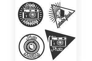 Vintage photographer emblems