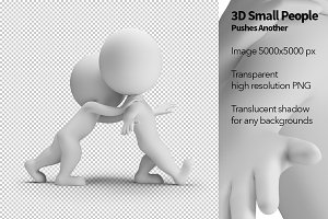 3D Small People - Pushes Another