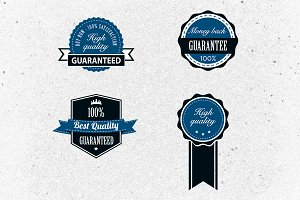 Editable Retro Badges Vector Pack