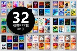 Summer poster set 1