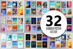 Summer poster set 3