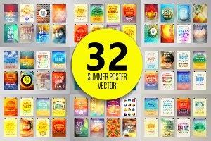 Summer poster set 2