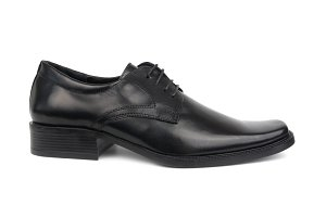 Right man's black shoe