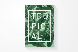 tropical template template - vector