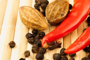 black pepper, chilli