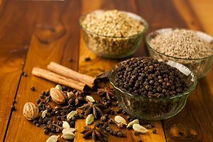 black pepper and other spices