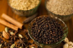 black pepper focused