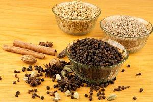 coriander cinnamon spices