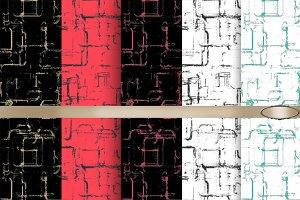 5 Graphic seamless pattern.