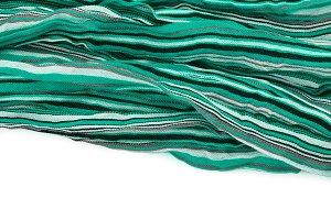 green striped fabric