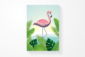 flamingo/tropical vector