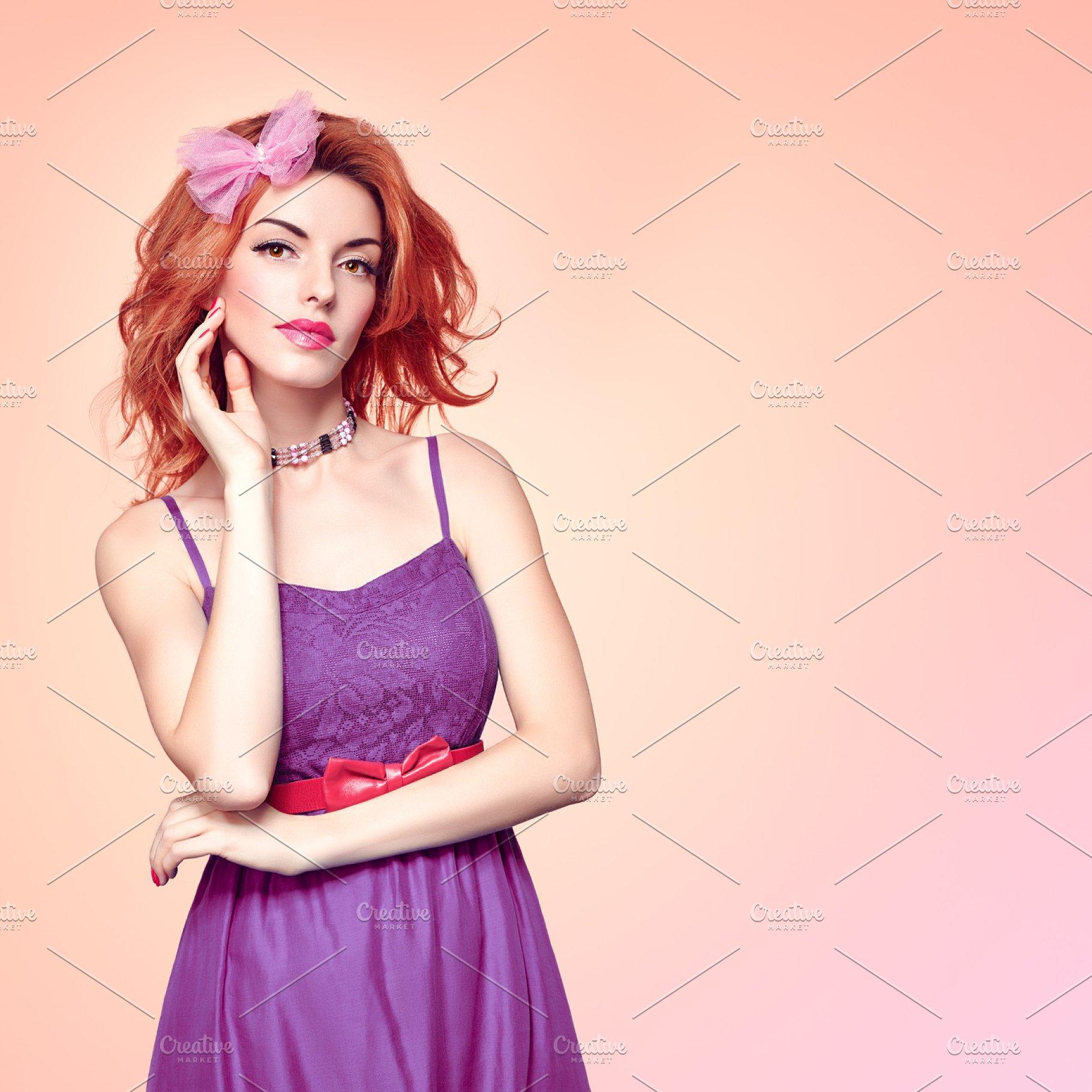 Fashion Beauty Redhead, Natural .