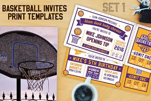 Basketball Invite Templates vol.1