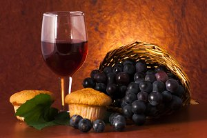 red wine with food