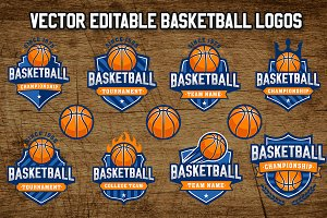 Vector Basketball Logo Templates 2