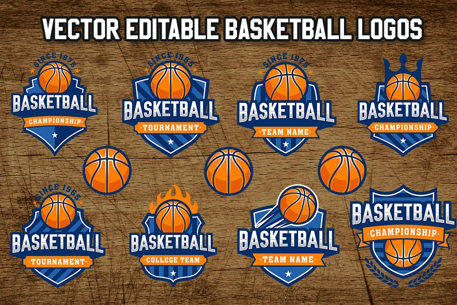 Vector Basketball Logo Templates 2