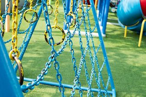 Rope climbing toys for kids in outdoor playground