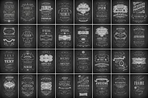 Chalk typography poster bundle