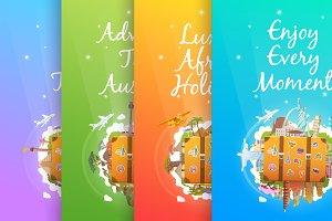 Travel Vertical Banners.