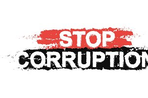 Stop corruption sign. Vector