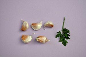 garlics and parsley