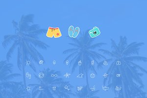 72 Line Icons Sketch